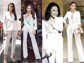 Cùng thử thách với suit trắng quyền lực, Hà Hồ - Phạm Hương và dàn mỹ nhân Việt đẹp mười phân vẹn mười