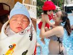 Ca sĩ Hải Băng hạnh phúc với hình ảnh bà mẹ bỉm sữa một nách hai con-12