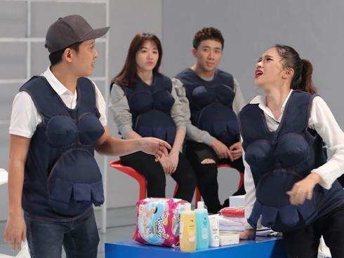 CHẾT CƯỜI: Trường Giang loay hoay khi Hương Giang Idol sợ 'đẻ rớt'