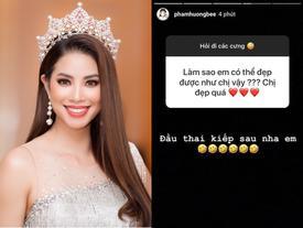 Fan hỏi 'Làm sao được đẹp như chị' và câu trả lời của Phạm Hương khiến hoa hậu bị đám đông 'tương đá tảng'