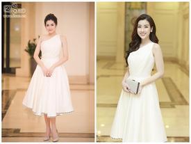 Dự đám cưới Tú Anh, hoa hậu Đỗ Mỹ Linh 'diện lại' váy đàn chị mà vẫn đẹp xuất thần