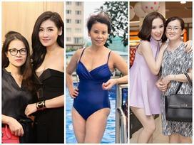 'Tuổi phụ huynh - mặt sinh viên', bộ ba mẫu hậu của Hà Hồ - Tú Anh - Angela Phương Trinh khiến ai cũng tưởng mẹ là chị gái
