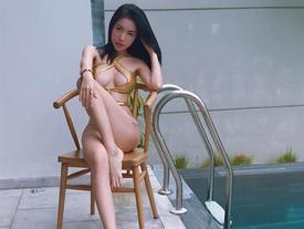Phô diễn hình thể với bikini, Elly Trần thú nhận 'Thích đi nhuộm da nâu'