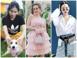 STREET STYLE giới trẻ: Kaity hóa công chúa lộng lẫy đối lập Hòa Minzy đi dép tổ ong 'huyền thoại'