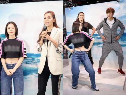 Chi Pu hướng dẫn Minh Tú thực hiện vũ đạo kỳ quái của ca khúc 'Đóa hoa hồng'