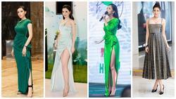 Kỳ Duyên - Bích Phương đồng loạt diện váy áo xẻ cao khoe thân hình vệ nữ ĐẸP NHẤT thảm đỏ tuần qua