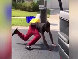 Thêm một chàng trai bị xe đâm khi bắt chước trào lưu #Inmyfeelings nguy hiểm