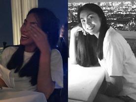 Tăng Thanh Hà mặt bé tí chỉ bằng nắm tay trong bức ảnh du lịch Thái Lan cùng hội bạn thân