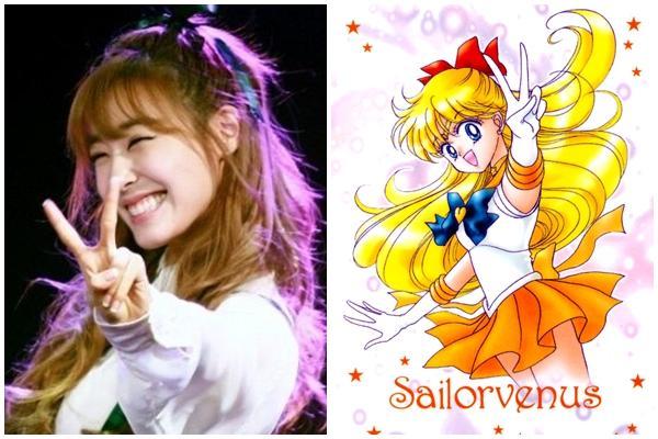 Lạ lùng chưa: các nữ idol K-Pop sao trông giống nhân vật Thủy thủ Mặt trăng y như chị em thế kia-3