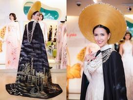 Phan Thị Mơ hé lộ chiếc áo dài đặc biệt tại Hoa hậu đại sứ du lịch thế giới
