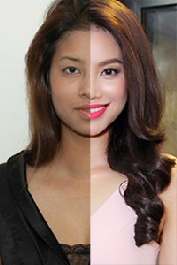 Lộ ảnh Hoa hậu Phạm Hương thuở 18: cằm chẻ đôi, môi hững hờ lên ảnh nghìn kiểu như một-13