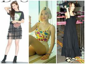 STREET STYLE SAO HÀN: DJ Soda khoe body không chút mỡ thừa - TaeYeon diện đầm như mang bầu