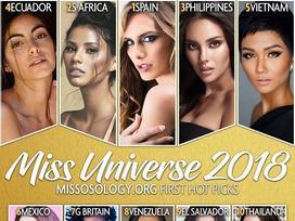 H'Hen Niê lọt top 5, mỹ nhân chuyển giới Angela Ponce được dự đoán đăng quang Miss Universe 2018