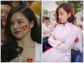 'Hot girl ngủ gật' gây chú ý ở trận đấu U23 Việt Nam - Palestine