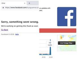 Facebook và Messenger bất ngờ bị sập
