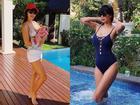Siêu mẫu Hà Anh mặc bikini khoe thân hình thon gọn sau hơn 1 tháng sinh con