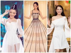 Cùng gây thương nhớ bởi váy áo tông trắng, Nhã Phương - Bích Phương chiếm trọn spotlight thảm đỏ tuần qua