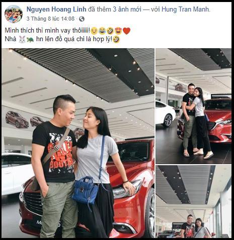 MC Hoàng Linh hạnh phúc khoe xế hộp tiền tỷ mới tậu cùng chồng sắp cưới-1