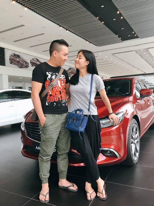 MC Hoàng Linh hạnh phúc khoe xế hộp tiền tỷ mới tậu cùng chồng sắp cưới-2