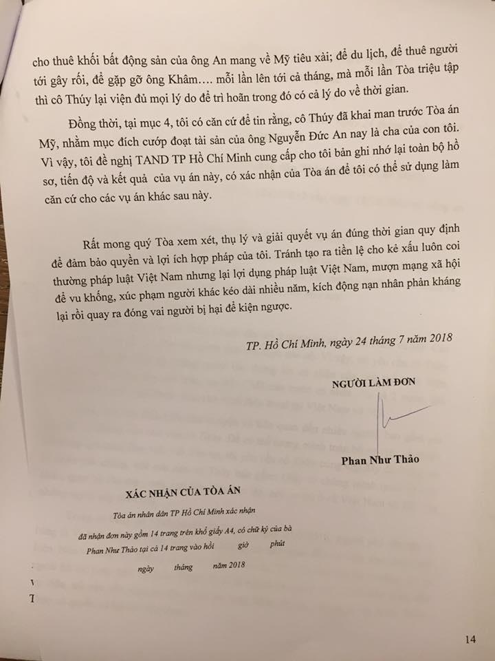 Bị report đơn phản tố Ngọc Thúy, người mẫu Phan Như Thảo bức xúc: Sao ai đó cứ phải điên cuồng lên thế?-8