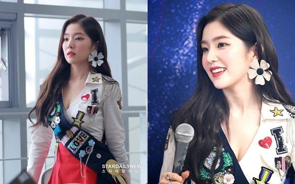 Irene được fan gọi là visual thế kỷ trong lần đầu tiên diện áo xẻ ngực-1