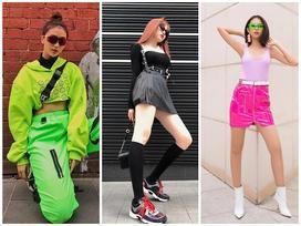 Chơi màu neon 'xịn xò' như Quỳnh Anh Shyn - Phí Phương Anh: bảo đảm nổi bần bật giữa đám đông luôn!