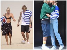 Không chỉ mê quần tụt, Justin Bieber còn suốt ngày đi đôi dép lê 'huyền thoại' khi sánh đôi với vợ sắp cưới