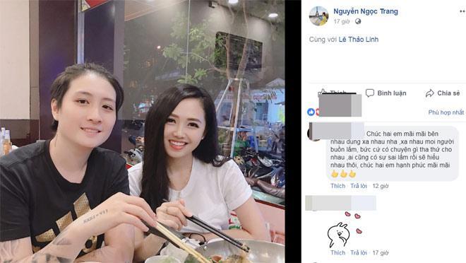 Sự thật tin đồn MC Ngọc Trang bỏ tình đồng giới để yêu đại gia-3