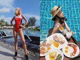 Mùa hè 'bung lụa' ở khu nghỉ sang trọng của các hotgirl
