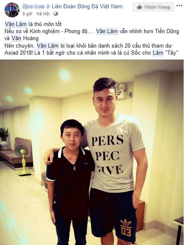 Thủ môn Văn Lâm bị loại khỏi danh sách U23 Việt Nam tham dự ASIAD 2018 khiến dân mạng tranh cãi-6