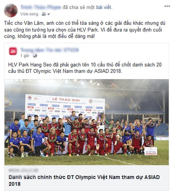 Thủ môn Văn Lâm bị loại khỏi danh sách U23 Việt Nam tham dự ASIAD 2018 khiến dân mạng tranh cãi-11
