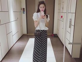 Hoa hậu Thu Thảo thon gọn như thời con gái sau 4 tháng sinh con