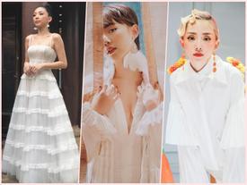 Tóc Tiên đẹp tuyệt vời trong màu trắng tinh khôi khi được Hoàng Touliver cầu hôn đêm qua