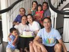 Vợ chồng Tăng Thanh Hà giản dị bên gia đình ngoại