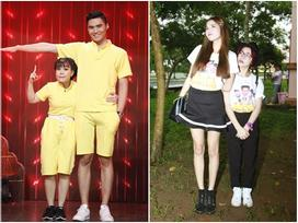 Có ai liều như Việt Hương và Hòa Minzy: Đã 'nấm lùn' lại còn thích chụp hình cùng 'người khổng lồ'