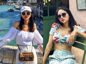 Hoa hậu Hương Giang chuộng đồ khoe eo 56cm có đẹp bằng Ngọc Trinh?