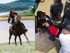 Mải mê quay phim, Yaya Trương Nhi bị ngựa quật ngã dẫn đến chấn thương