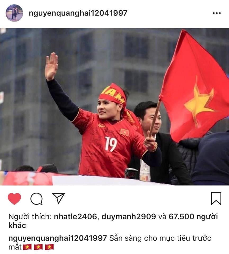 Dàn cầu thủ U23 VN đồng loạt đăng ảnh trước khi tham dự ASIAD 2018-3