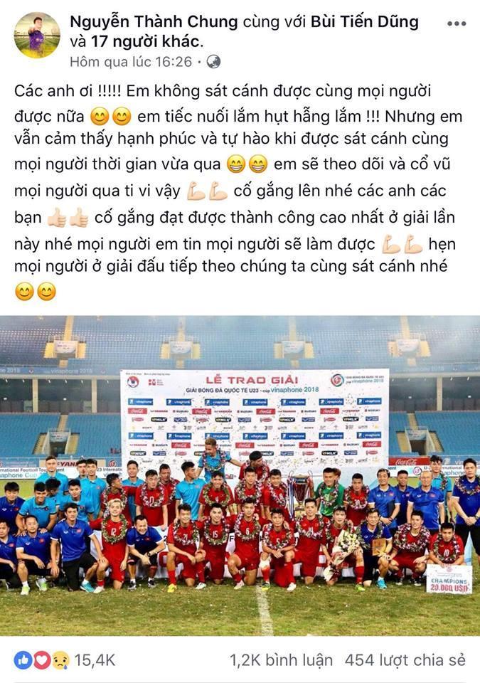 Dàn cầu thủ U23 VN đồng loạt đăng ảnh trước khi tham dự ASIAD 2018-8