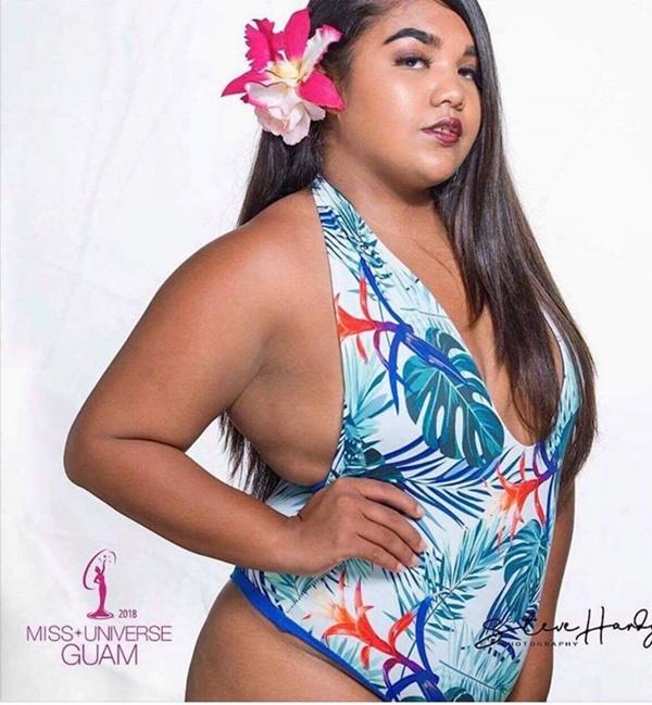 Thí sinh Hoa hậu Hoàn vũ Guam gây tranh cãi vì ngoại hình to béo-1