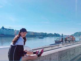 Park Shin Hye khoe mặt mộc xinh đẹp, chăm chỉ tập luyện giữ dáng