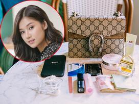 Hoàng Yến Chibi quá đơn giản khi mang theo có vài món đồ trong túi hàng hiệu