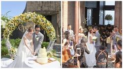 Tài tử TVB Trịnh Gia Dĩnh hôn say đắm hoa hậu Hong Kong trong đám cưới cổ tích