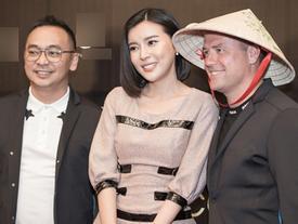 Mỹ nhân 'Hậu duệ mặt trời' phiên bản Việt hào hứng chụp ảnh cùng Michael Owen