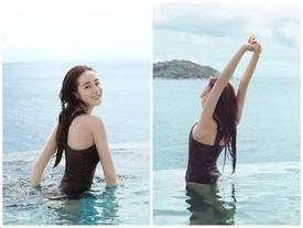 Địch Lệ Nhiệt Ba khoe khoảnh khắc hiếm hoi diện bikini đẹp như 'tiên nữ'