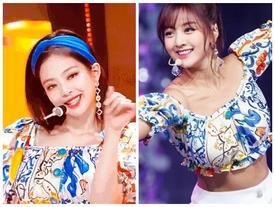 Jennie (Black Pink) đụng hàng với Jihyo (TWICE): chỉ một chi tiết đã khiến người kia lép vế