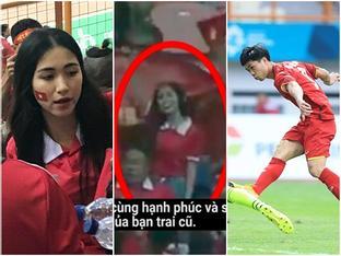 Hòa Minzy 'quẩy' tưng bừng khi Công Phượng ghi bàn thắng giúp U23 Việt Nam chiến thắng vẻ vang