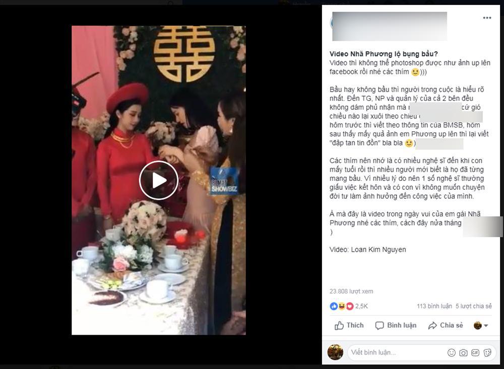 Đoạn clip nhận định Nhã Phương lộ bụng bầu 3 tháng đang lan truyền khiến showbiz Việt xôn xao-1