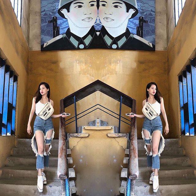 Street style sao Việt: Tâm Tít lăng-xê mốt quần jeans rách tả tơi - Angela Phương Trinh khoe da thịt sexy-10