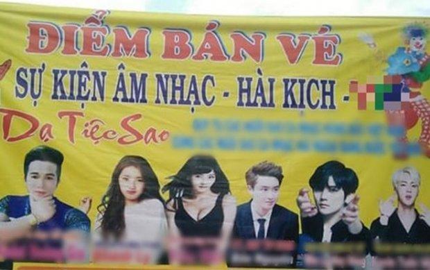Fan phẫn nộ khi hình ảnh EXO - BTS bị sử dụng trái phép trên banner sự kiện Âm nhạc - Hài kịch-1